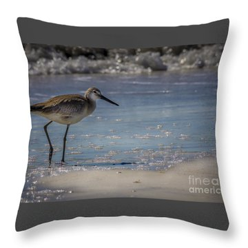 Snowy Egret Throw Pillows