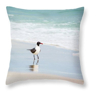 A Walk On The Beach Throw Pillow by Shelby  Young