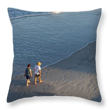 A Walk On The Beach Throw Pillow