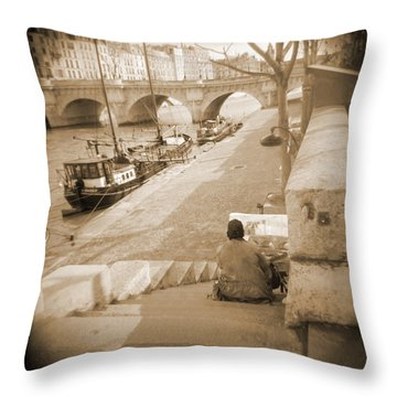 A Walk Through Paris 1 Throw Pillow by Mike McGlothlen