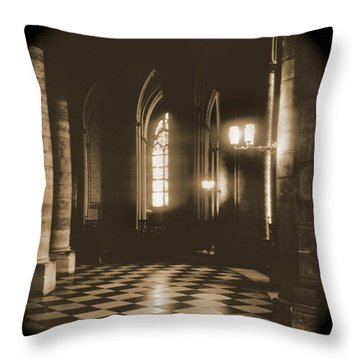 A Walk Through Paris 26 Throw Pillow by Mike McGlothlen