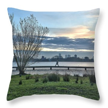 A Walk Through The Lake Throw Pillow