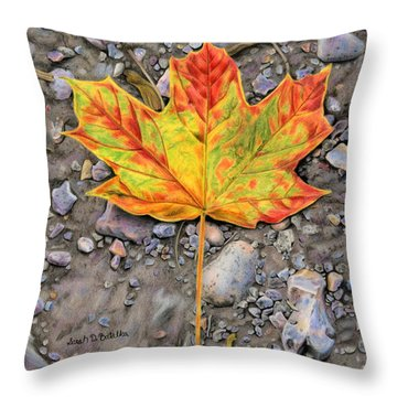 A Walk Through The Woods Throw Pillow