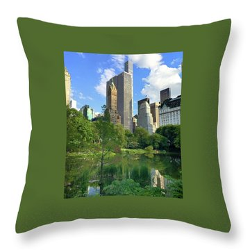A Walk Thru Central Park Throw Pillow