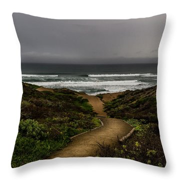 A Walk To The Beach Throw Pillow