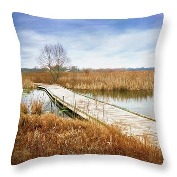 A Warm Day In February Throw Pillow