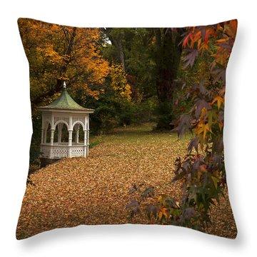 A Washington Crossing Autumn Throw Pillow by Elsa Marie Santoro