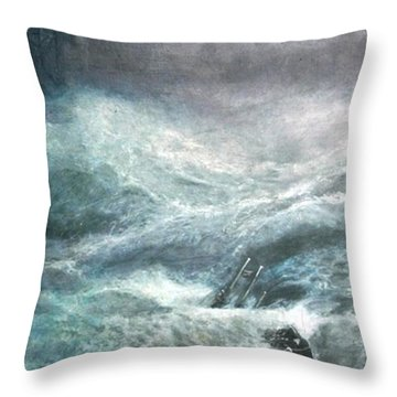 a wave my way by Jarko Throw Pillow