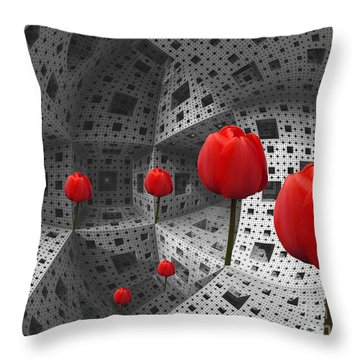 a way in Menger's sponge Throw Pillow