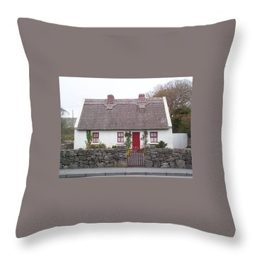 Throw Pillow featuring the photograph A Wee Small Cottage by Charles Kraus