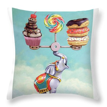 A Well-balanced Diet Throw Pillow
