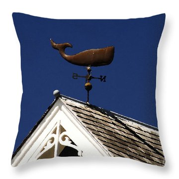 A Whale Of A House Throw Pillow by David Lee Thompson