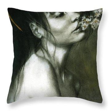 A Whisper Throw Pillow