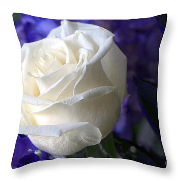 A White Rose Throw Pillow