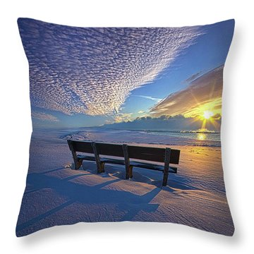 A Whole World In Front Of Us Throw Pillow