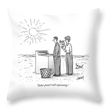 A Wife Reads Her Husband The Instructions Throw Pillow
