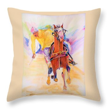 A Win Throw Pillow by Khalid Saeed