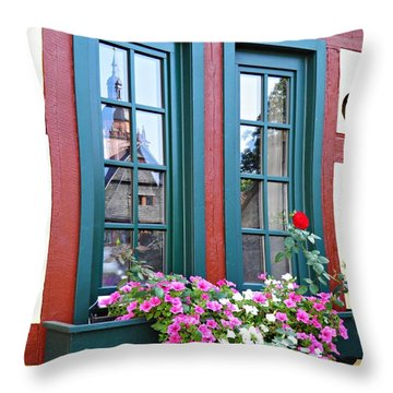 A Window In Eltville  2 Throw Pillow