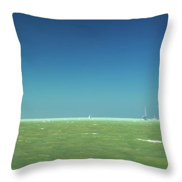 A Windy Day On The Bay Islamorada Florida Throw Pillow by Michelle Wiarda