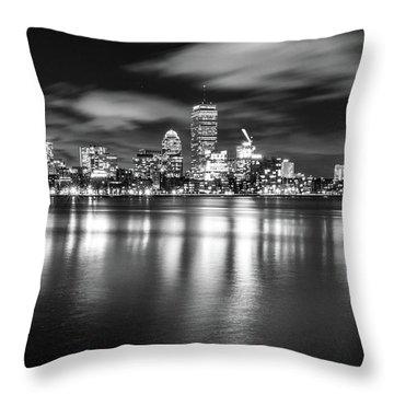 A Windy Night In Boston Throw Pillow