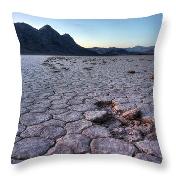 Throw Pillow featuring the photograph A Windy Place In The Desert by Peter Thoeny