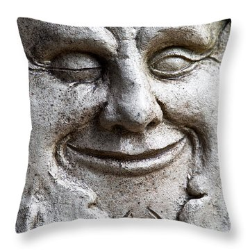 A Wink And A Smile Throw Pillow by Christopher Holmes