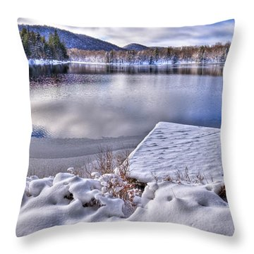 Throw Pillow featuring the photograph A Winter Day On West Lake by David Patterson