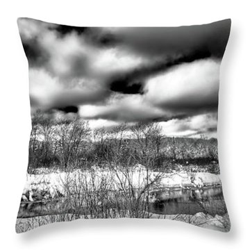 Throw Pillow featuring the photograph A Winter Panorama by David Patterson