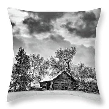 A Winter Sky Monochrome Throw Pillow by Steve Harrington