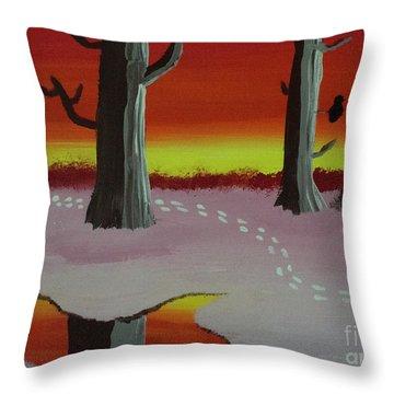 A Winter Walk Throw Pillow