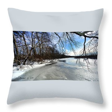 A Winters Day Throw Pillow by Diane Giurco