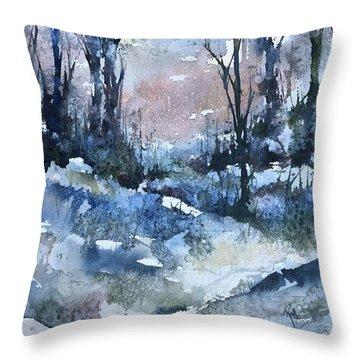 A Winter's Eve Throw Pillow