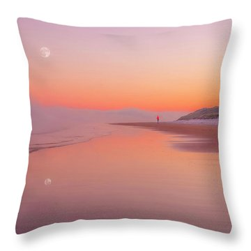 A Winters Morning Throw Pillow by Roy McPeak