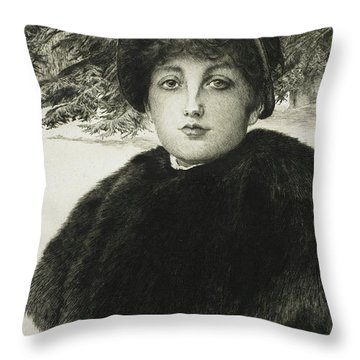 A Winter's Walk Throw Pillow