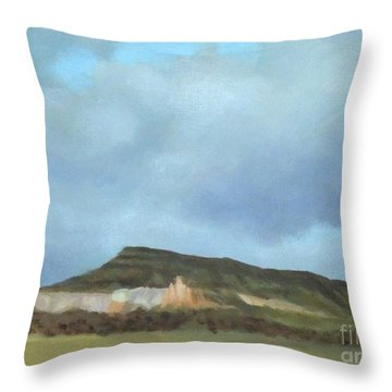A Wintry Day In Abiquiu Throw Pillow