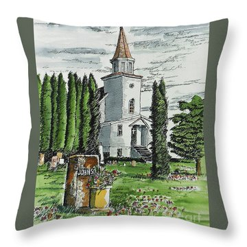 Throw Pillow featuring the painting A Wisconsin Beauty by Terry Banderas