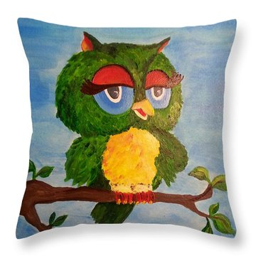 A Wise Bird Throw Pillow