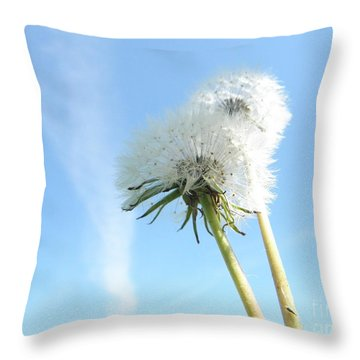 A Wish Blown Off To The Maker Throw Pillow by Robin Coaker