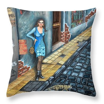 A Woman In Buenos Aires II Throw Pillow