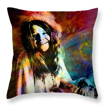A Woman Of 1970 Rock And Roll Throw Pillow