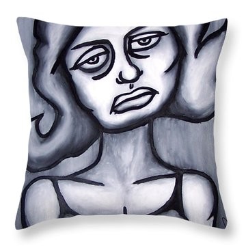 A Woman Throw Pillow
