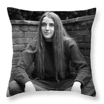 A Woman's Hands, 1972 Throw Pillow