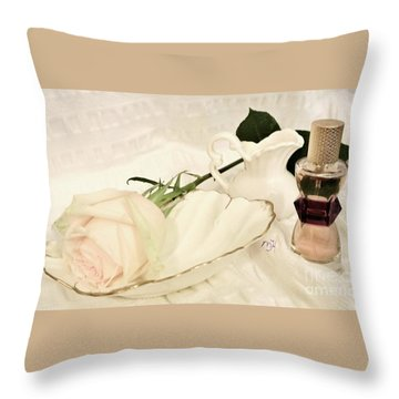 Throw Pillow featuring the photograph A Womans Touch by Marsha Heiken