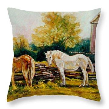 A Wonderful Life Throw Pillow by Carole Spandau