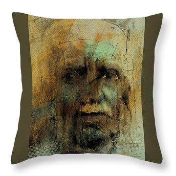 Throw Pillow featuring the digital art A Worried Mind by Jim Vance
