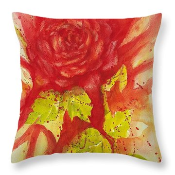 A Wounded Rose Throw Pillow