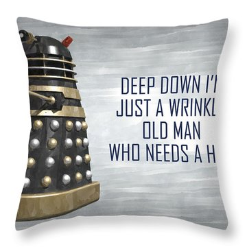 A Wrinkly Old Man Who Just Needs A Hug Throw Pillow
