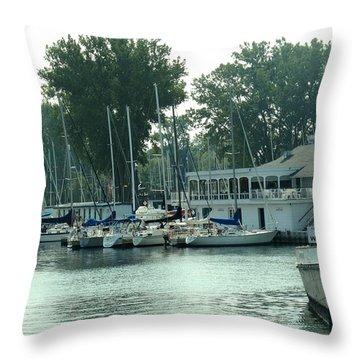 A Yacht Club Throw Pillow by Ian  MacDonald