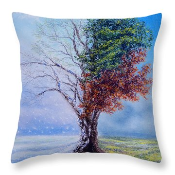 A Year In The Tree Of Life Throw Pillow