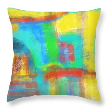 Throw Pillow featuring the painting A Yellow Day by Susan Stone